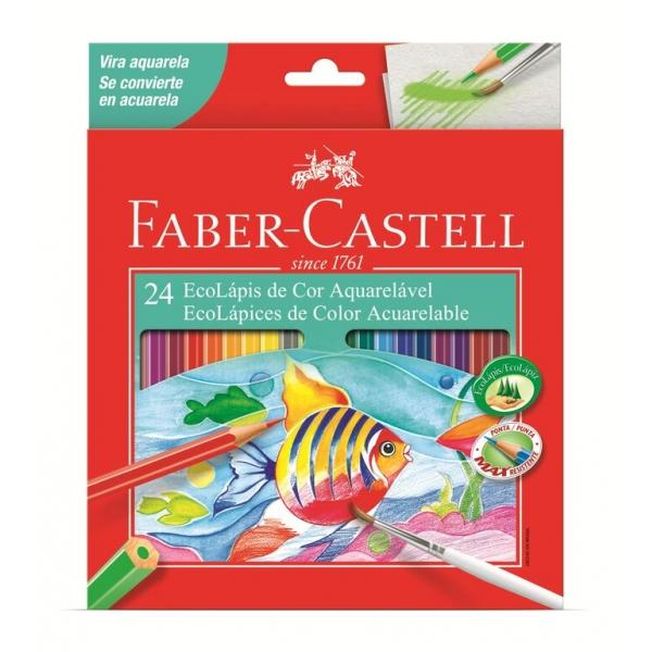 Ecolapis de Cor Aquarelavel 24 Cores - Faber-Castell
