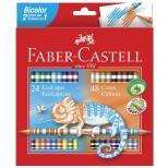 Ecolapis de Cor Bicolor  48 Cores - Faber-Castell