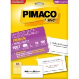 Cartão de Visita Premium Fosco/Opaco - 10 folhas - Pimaco