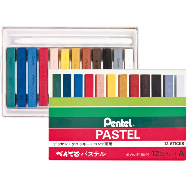 Pastel Seco 12 cores - Pentel