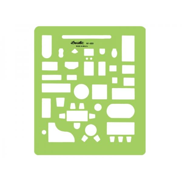 Gabarito de Arquitetura - Móveis e Sanitários 4351 - Trident