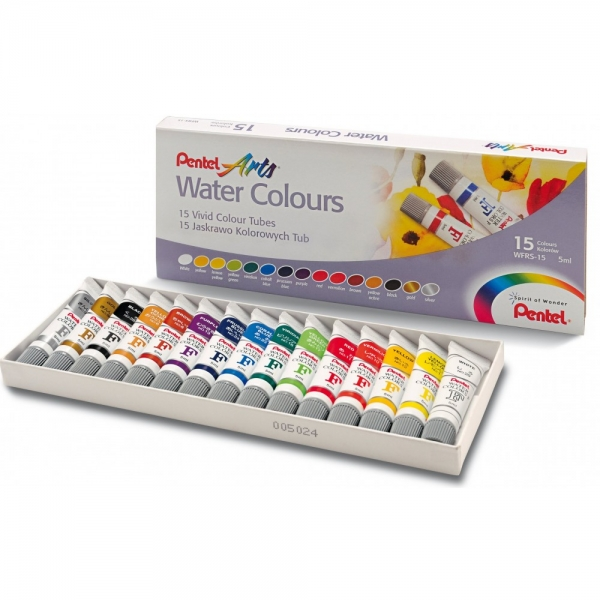 Aquarela Water Colours 15 cores - Pentel