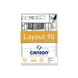 Bloco Layout 90 A-4 Margeado - Canson