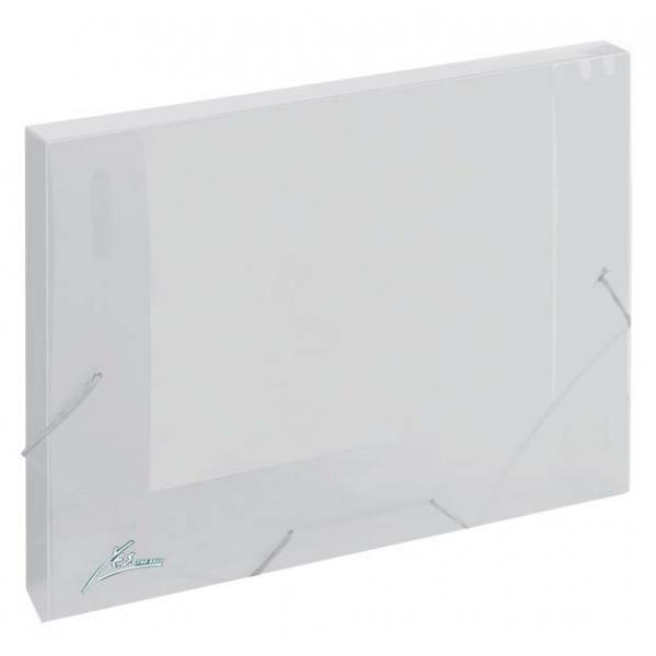 Pasta Elástico Ofício - Dorso 2cm - Transparente - Y.E.S.