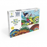 Puzzle Copa do Mundo da FIFA by Romero Britto - 100 Peças - Grow