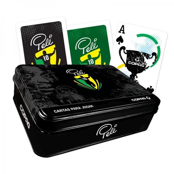 Baralho Pelé - Lata Luxo - Copag