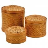 Conjunto de 3 Cestos de Bambú - BTC