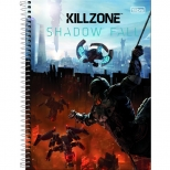 Caderno Universitário Capa Dura Killzone - 10 Matérias - 200 Folhas - Tilibra