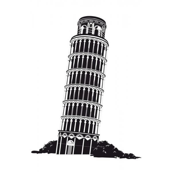 Adesivo DelloDecor  Torre de Piza - Dello