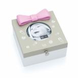 Caixa Porta-Retrato Laço Rosa - Ludi