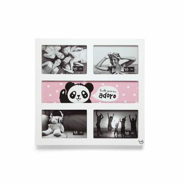 Painel Porta-Retrato Panda Fofo - Ludi