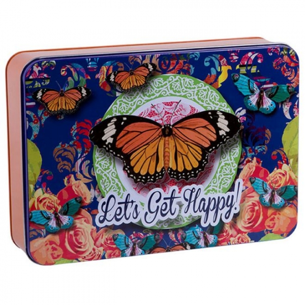 Caixa Butterfly Blue - Trevisan Concept