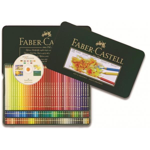 Lápis de Cor Polychromos  Estojo Metálico com 120 cores - Faber-Castell