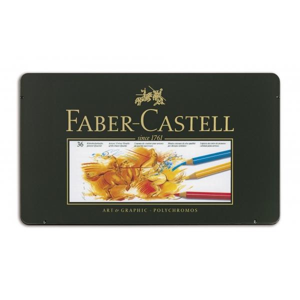 Lápis de Cor Polychromos  Estojo Metálico com 36 cores - Faber-Castell