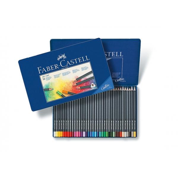 Lápis de Cor Art Grip Estojo Metálico com 36 cores - Faber-Castell