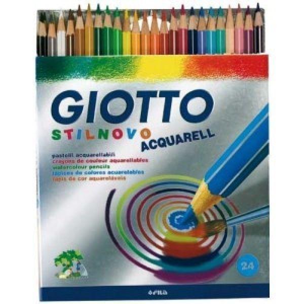 Lápis de Cor Stilnovo Aquarelável 24 cores - Giotto