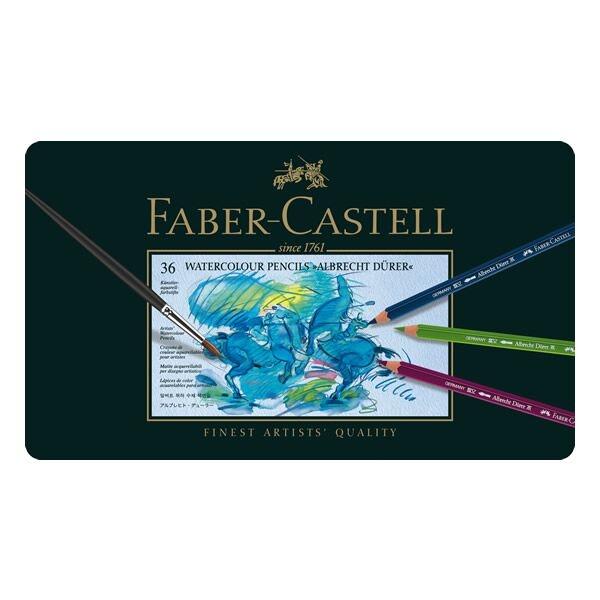 Lápis de Cor Aquarelável Albrecht Dürer Estojo Metálico com 36 cores - Faber-Castell