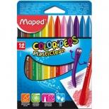 Giz de Cera Color'Peps PlastiClean 12 cores - Maped
