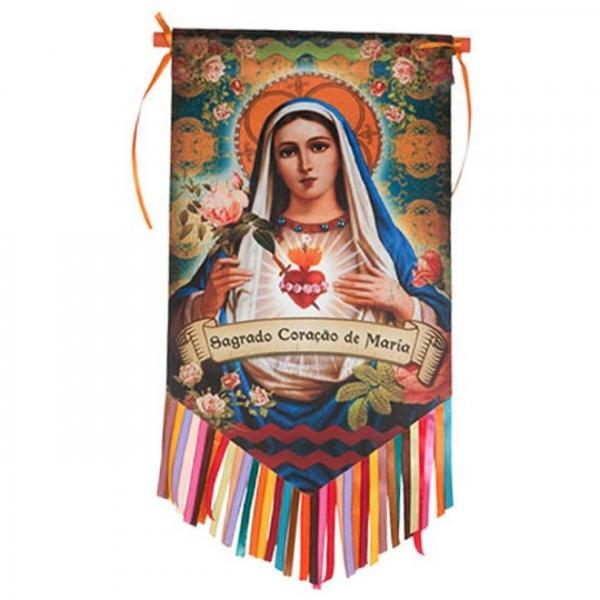 Flag Sagrado Coração de Maria - Trevisan Concept