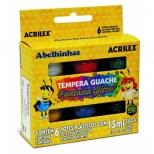 Tempera Guache Fantasia Glitter 6 Cores - Acrilex
