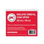 Malote Cristal com Zíper  Ref. 1006 - DAC