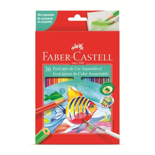 Ecolápis De Cor Aquarelável 36 Cores - Faber-Castell