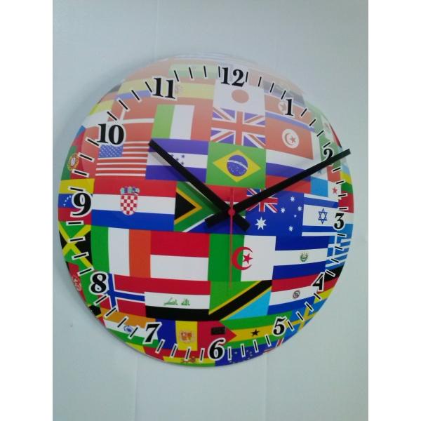 Relógio de Parede - Bandeiras - Studio Do Tempo