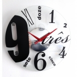 Relógio de Parede de Vidro - Babel - Studio Do Tempo
