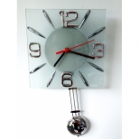 Relógio de Parede de Vidro - Quadrado - Studio Do Tempo