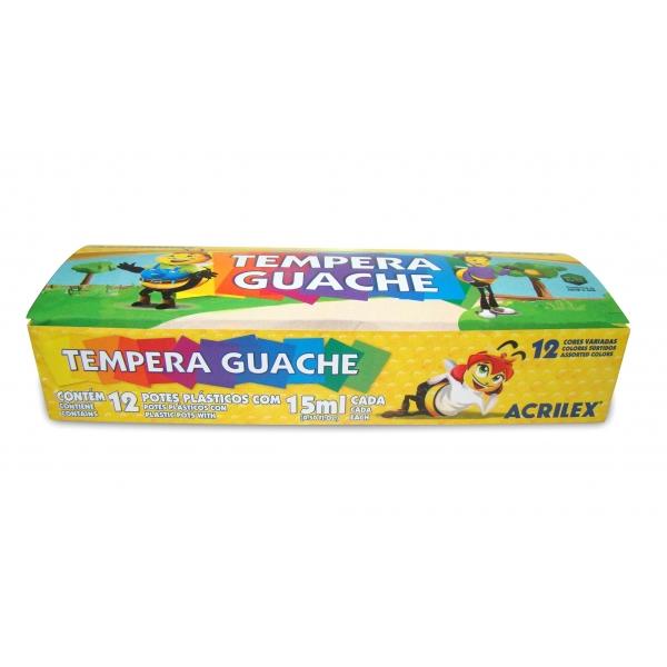 Tempera Guache 12 Cores - Acrilex