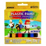 Plasticpaint 6 Cores - Acrilex