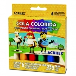 Cola Colorida 6 Cores - Acrilex