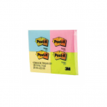 Blocos Adesivos Post-it® Quatro Cores 4 Blocos de 38 mm x 50 mm - 100 folhas cada - 3M