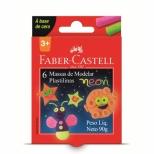 Massa de Modelar Neon 6 cores - Faber-Castell