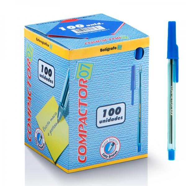Caixa c/100 Canetas Esferográficas Compactor 07 - Compactor
