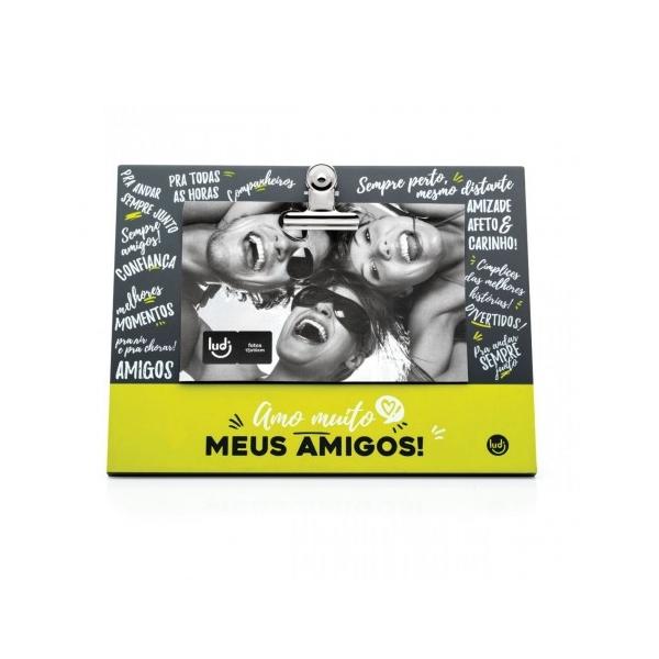 Porta Retrato Clipes Amo Muito Amigos - Ludi