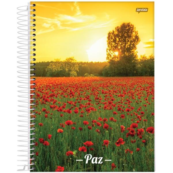 Caderno Universitário Capa Dura Paz - 1 Matéria - 96 Folhas - Jandaia