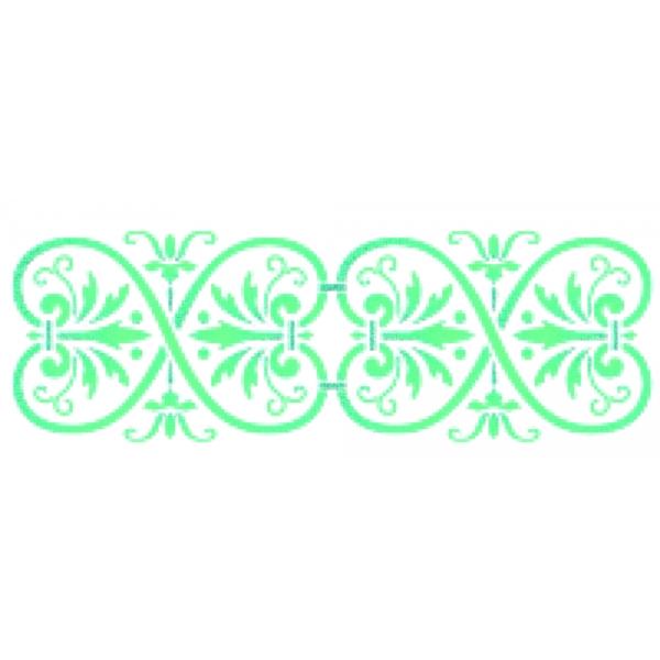 Stencil 30cm x 10cm  Floral 3 - Acrilex