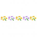 Stencil 16cm x 3cm  Flores 2 - Acrilex