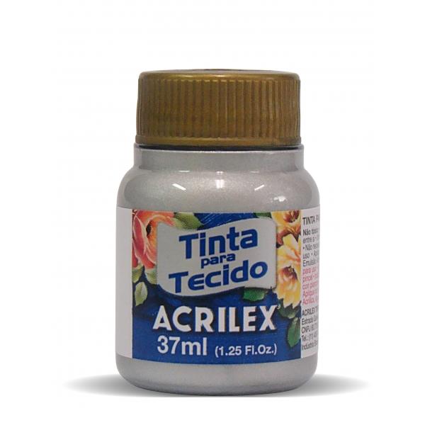 Tinta para Tecido Metálica 37ml - Acrilex