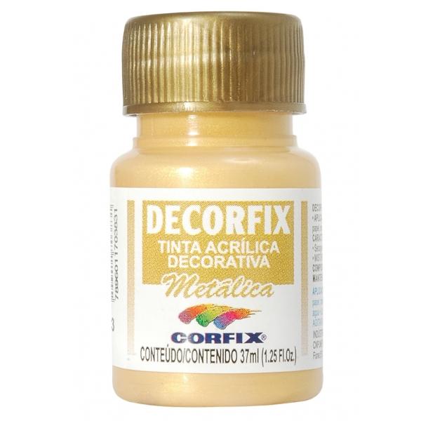 Tinta Acrílica Decorfix Metálica 37ml - Corfix