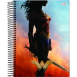 Caderno Universitário Capa Dura Mulher Maravilha - 10 Matérias - 200 Folhas - Jandaia