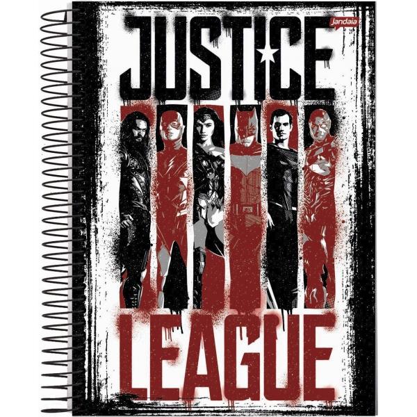 Caderno Universitário Capa Dura Liga da Justiça - 1 Matéria - 96 Folhas - Jandaia