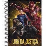 Caderno Universitário Capa Dura Liga da Justiça - 10 Matérias - 200 Folhas - Jandaia