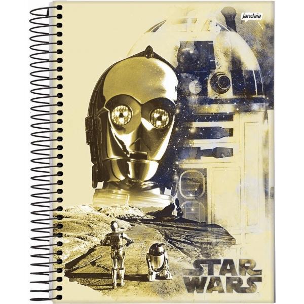 Caderno Universitário Capa Dura Star Wars - 10 Matérias - 200 Folhas - Jandaia