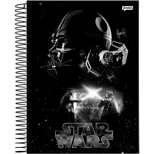 Caderno Universitário Capa Dura Star Wars - 15 Matérias -  300 Folhas - Jandaia