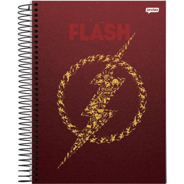 Caderno Universitário Capa Dura DC Comics - 10 Matérias - 200 Folhas - Jandaia