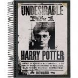 Caderno Universitário Capa Dura Harry Potter - 10 Matérias - 200 Folhas - Jandaia