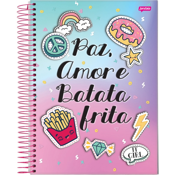 Caderno Universitário Capa Dura It Girl - 1 Matéria - 96 Folhas - Jandaia