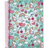Caderno Universitário Capa Dura It Girl - 10 Matérias - 200 Folhas - Jandaia